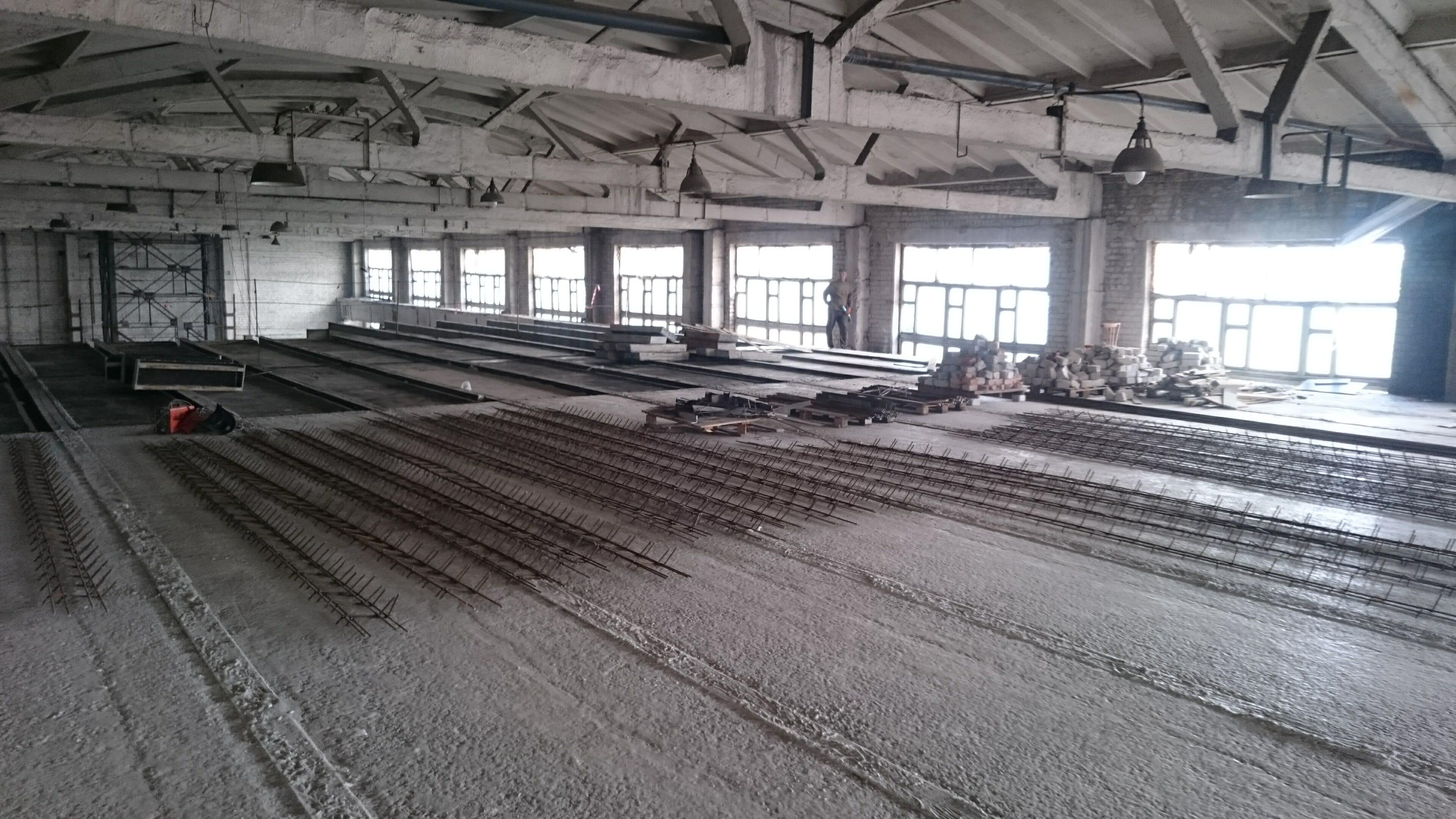 заливка пола бетоном цена
